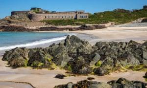 Fort Corblets taken from Corblets Bay, Alderney.