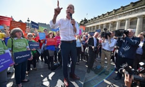 Scottish Labour Leader Jim Murphy holds a rally on Princess Street in Edinburgh
