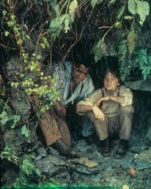 Samm-art Williams, left, and Patrick Day in the 1980s TV adaptation of the Adventures of Huckleberry Finn.
