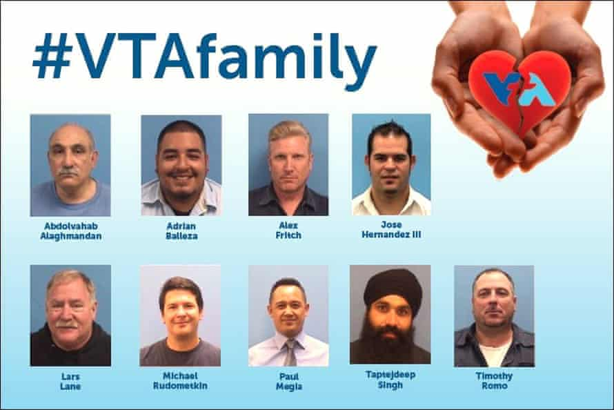 VTA officials released an image of the victims killed in the shooting at a San Jose rail yard Wednesday