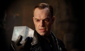 Hugo Weaving plays Johann Schmidt in Captain America: The First Avenger.
