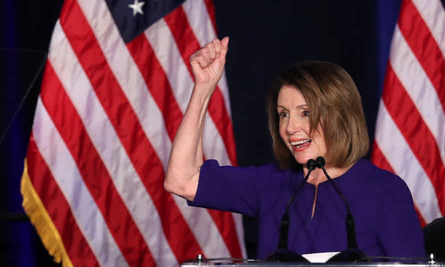 Nancy Pelosi celebrates the Democrats winning the House