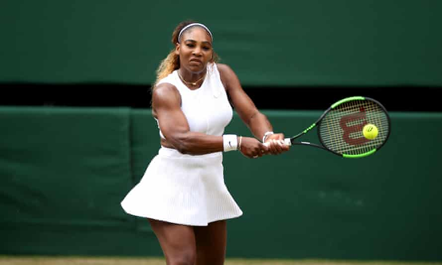Serena Williams in action on the court