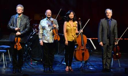 Kronos Quartet at the Barbican, London, in 2014.