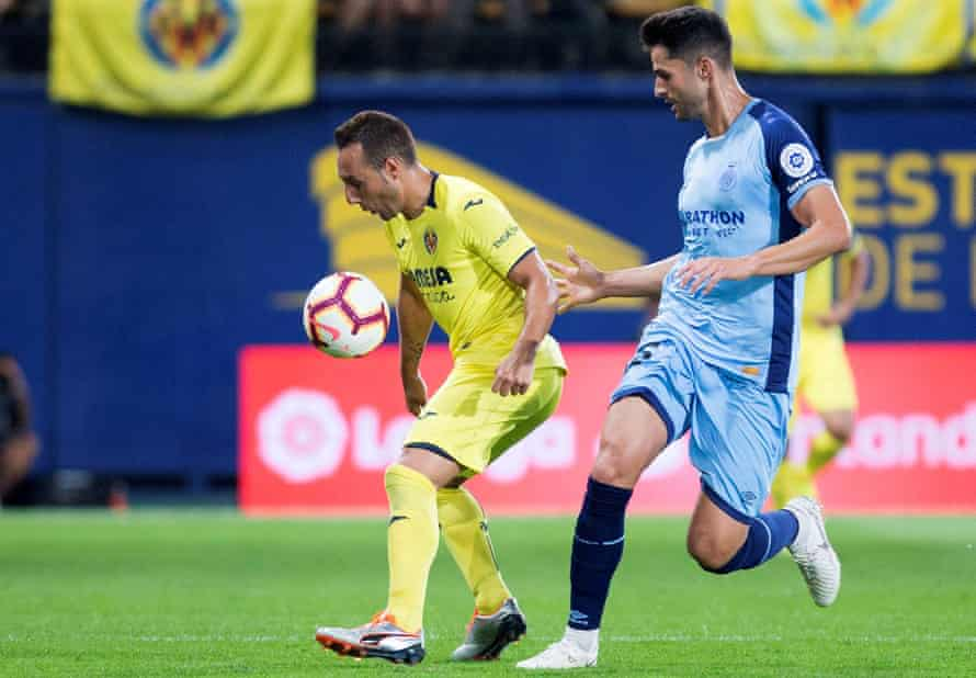 Cazorla in action for Villarreal against Girona. 'I don't feel too bad; I'm optimistic,' he says.