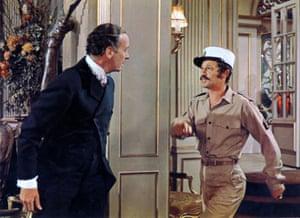 David Niven and Jean-Paul Belmondo in Casino Royale, 1967