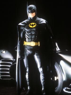 Actor Michael Keaton in the Tim Burton film Batman (1989)