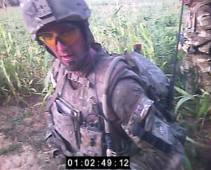 Alexander Blackman is filmed by a colleague's head-cam during the patrol in which an insurgent is murdered.