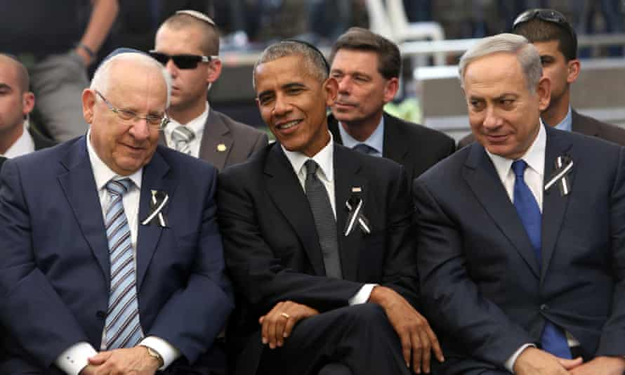 At last week's funeral for former president Shimon Peres, Obama pointedly spoke about the 'unfinished business of peace'.