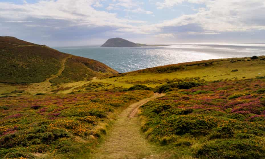 Bardsey Island from the hills above Aberdaron.