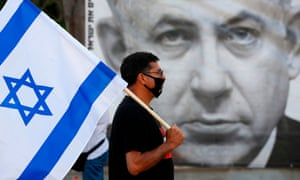 A protest in Tel Aviv's Rabin Square on 6 June in opposition to Israel's plan to annex parts of the occupied West Bank.