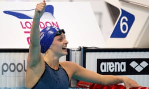 Fran Halsall pictured after winning the women's 50m backstroke final at last year's European Aquatics Championships.