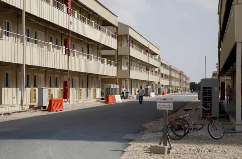 Accommodation blocks at the QDVC migrant workers labour camp