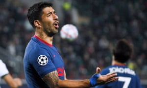 Luis Suárez will miss the chance to face Barcelona, his former club, after testing positive on international duty with Uruguay.