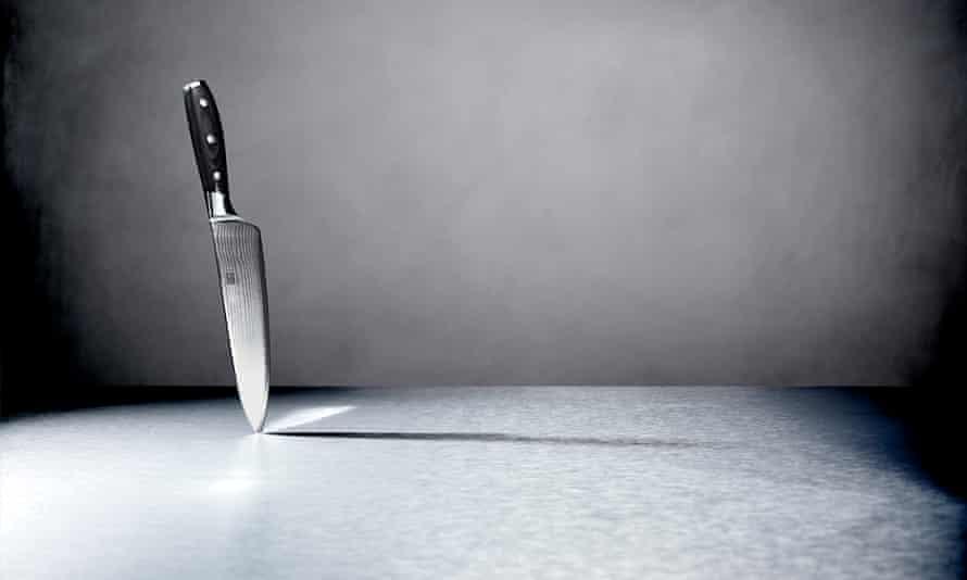 Knife on end