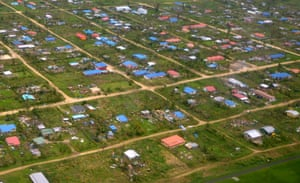 Oxfam says 90 per cent of houses have been damaged.