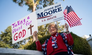 Patricia Riley Jones attends a 'Women For Moore' rally in Montgomery on Friday.