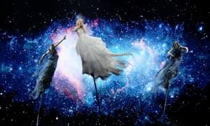 Australia's Kate Miller-Heidke performs during semi-final dress rehearsals of the Eurovision song contest in Tel Aviv, Israel