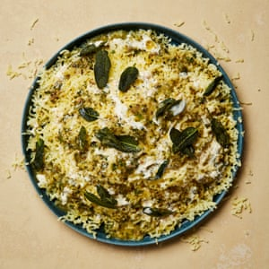 Yotam Ottolenghi's riced potatoes with anchovy butter.