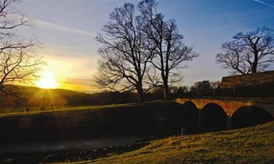 Yorkshire Sculpture Park sunset
