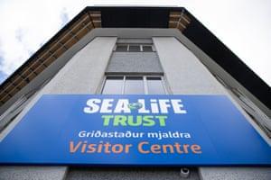 The Sea Life Trust premises at Klettsvik Bay on Heimaey Island, Iceland.
