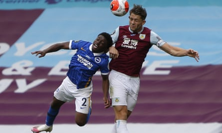 James Tarkowski in action during Burnley's game against Brighton in July