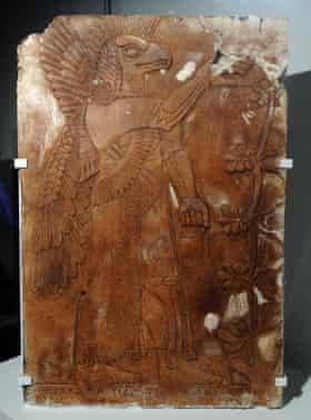 An Assyrian relief by art forger Shaun Greenhalgh