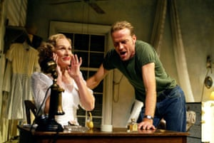 Glenn Close and Iain Glen in A Streetcar Named Desire at the Lyttelton theatre in 2002