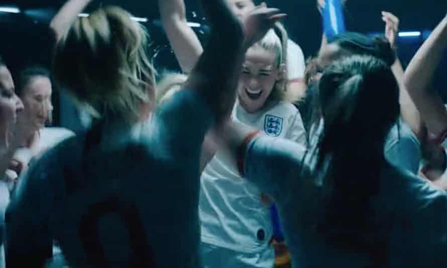 A screengrab from the video for the Three Lionesses England World Cup song
