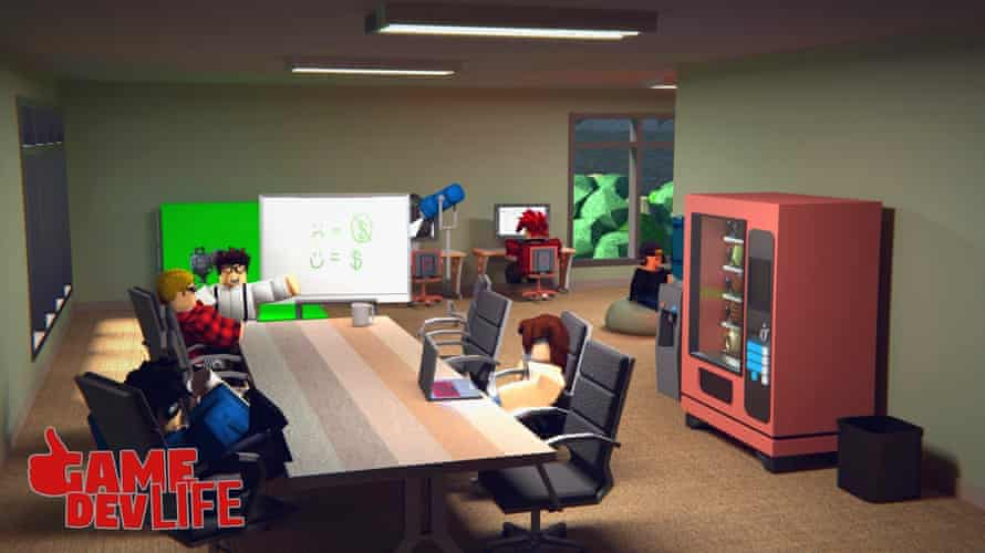 Game Dev Life by DoubleJGames. Players must try to build a successful game.