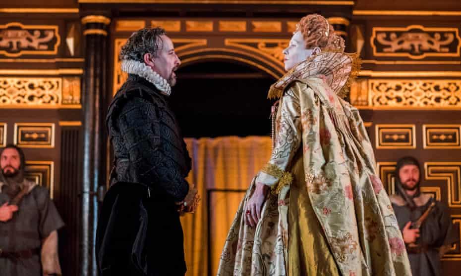 Mutually abrasive … Sir Francis Walsingham (Aidan McArdle) and Elizabeth (Tara Fitzgerald).