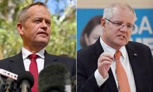 Australia's Opposition Leader Bill Shorten (L) and Prime Minister Scott Morrison (R), Australia (issued 15 May 2019).