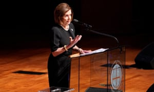 House Speaker Nancy Pelosi speaks during funeral services for late Representative Elijah Cummings at the New Psalmist Baptist Church in Baltimore, Maryland.
