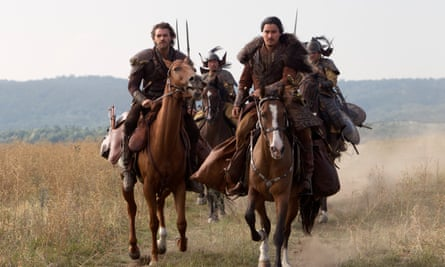 Men riding horses in Netflix's 13th-century epic Marco Polo