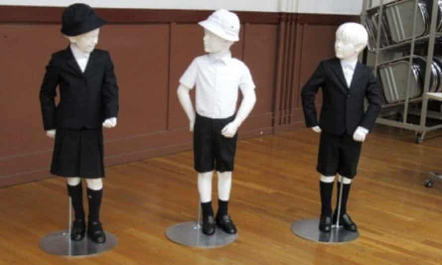 The school uniforms designed by the Italian brand Armani.