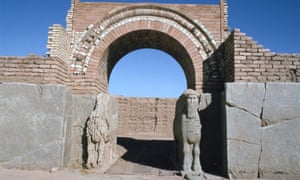 The gate of the north-west palace. The palace was the most important palace at the Assyrian city of Nimrud