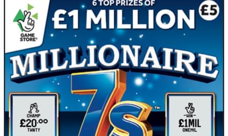 National Lottery's Millionaire 7s scratchcard