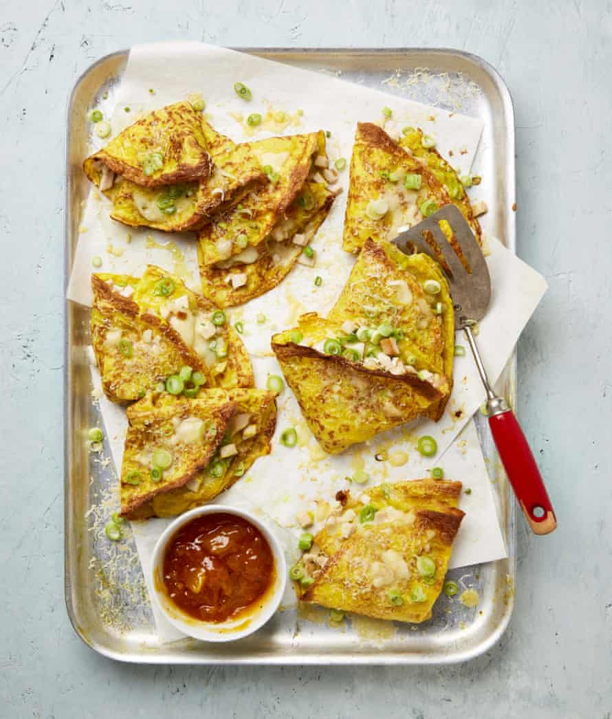 Yotam Ottolenghi's curry curry crepes.