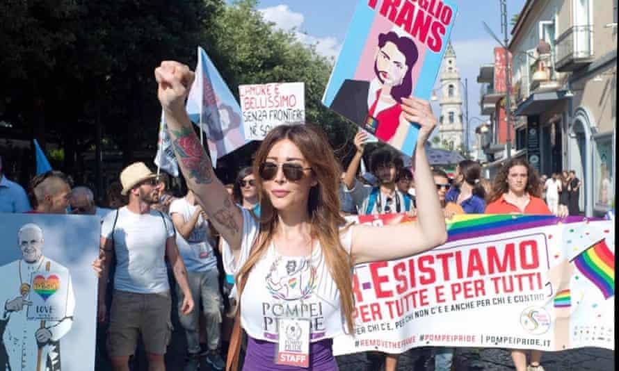 Daniela Falanga at Pompeii pride in June 2018