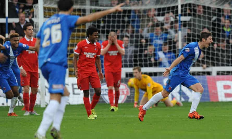 Hartlepool scoring against Leyton Orient
