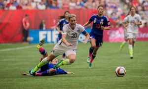 Abby Wambach in action during the 2015 Women's World Cup final