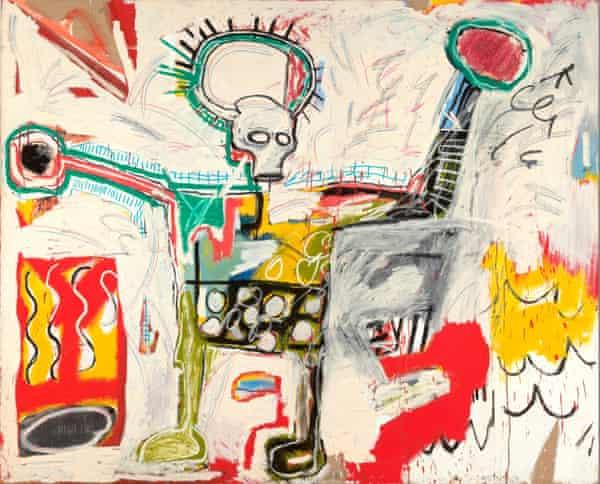 Jean-Michel Basquiat, Untitled 1982, Museum Boijmans Van Beuningen, Rotterdam. On show at the Barbican in London in 2017.