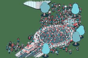 article break -tech workers illustration