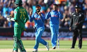 Indias Virat Kohli Centre Celebrates After Ravindra Jadeja Captures The Wicket Of Azhar Ali