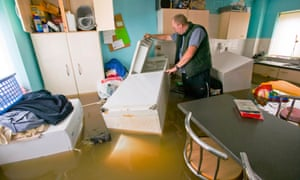 The resident of a flooded house in Toll Bar, one of the areas most badly affected by flooding in South Yorkshire in June 2007.