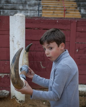 David from the bullfighting school in Écija is one of the youngest pupils