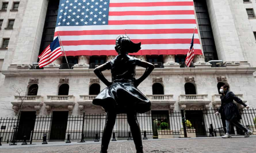 The Fearless Girl sculpture outside the New York stock exchange.