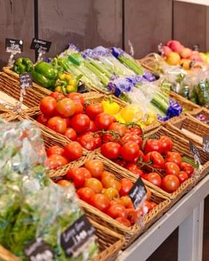 Fresh produce at Canalside Farm Shop.