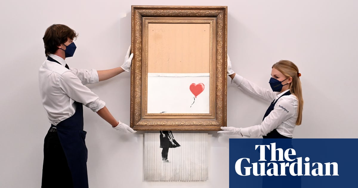 Banksy sets auction record with £18.5m sale of shredded painting