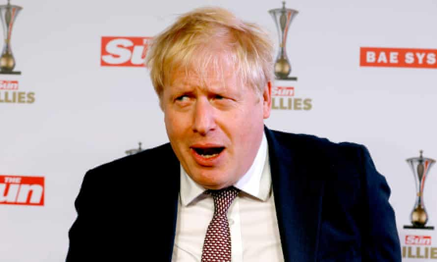 Boris Johnson attends the Sun military awards 2020 held at the Banqueting House, London.